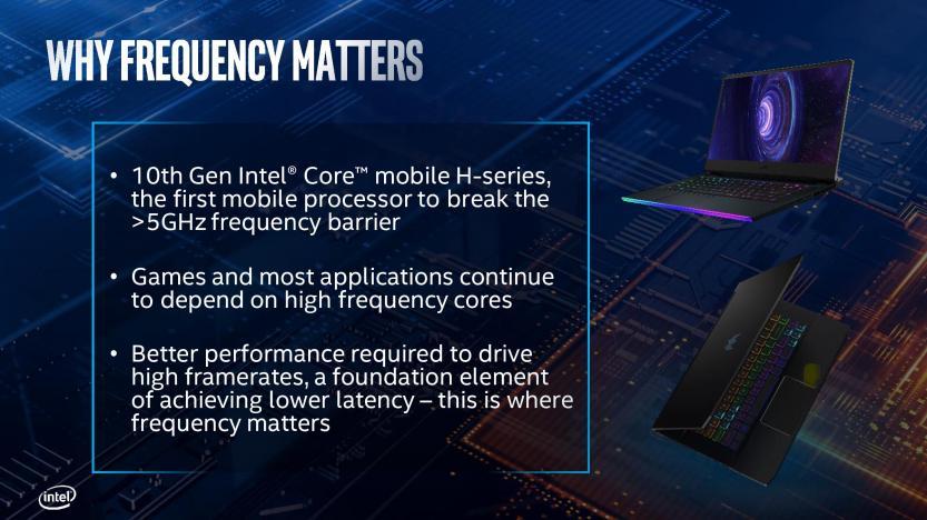 Lancio Intel Comet Lake 10 generazione motivazione frequenza