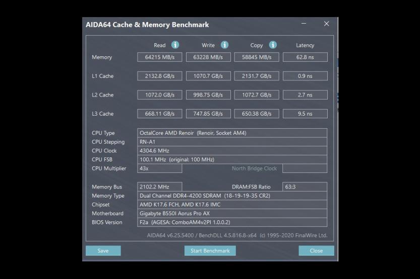 aida64 benchmark amd 7 4700g