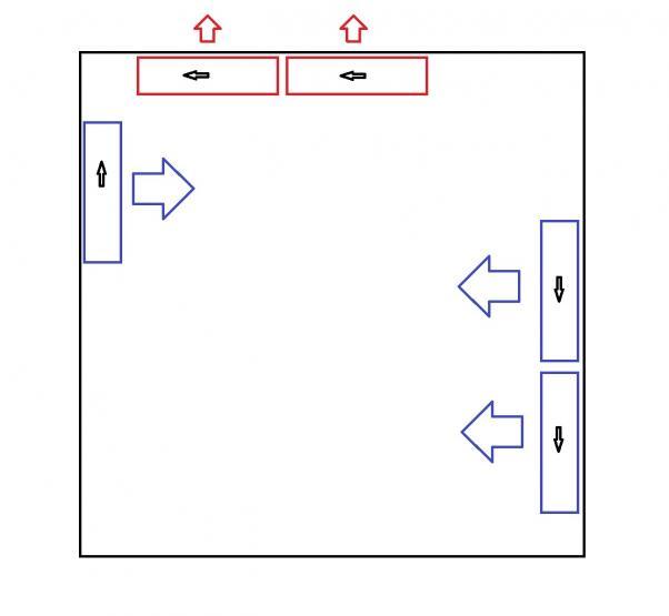 Disposizione delle ventole e flussi d'aria all'interno del case per PC