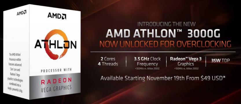 amd athlon 3000g scheda video integrata