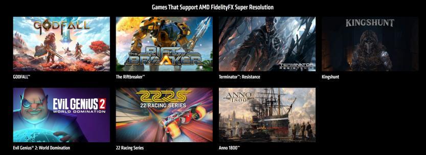 amd fsr supported games