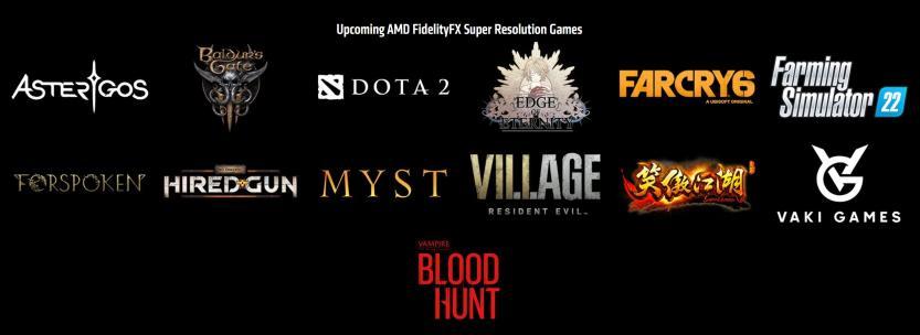 amd fsr upcoming games