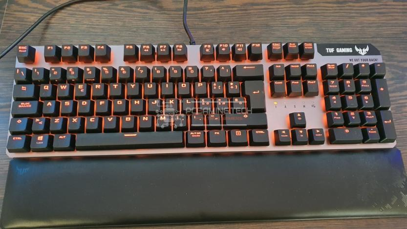 Asus Tuf gaming k7 rgb illumination orange