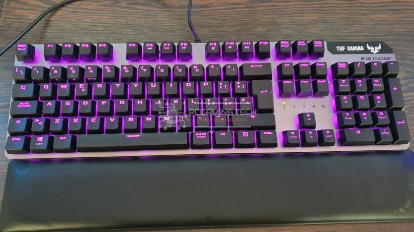 Asus Tuf gaming k7 rgb illumination purple