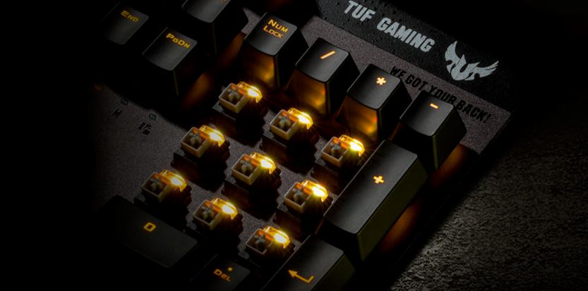 Asus Tuf gaming k7 optical-mech switch infrared