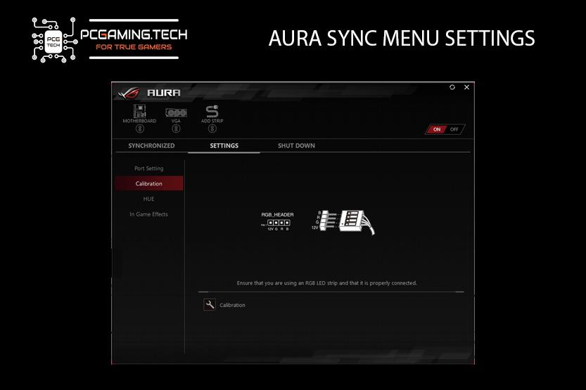 software aura sync menu