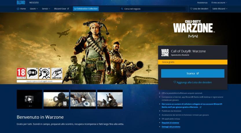 call of duty warzone negozio