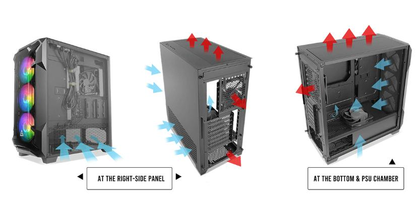 case pc gaming antec df600 flux mid tower dissipazione