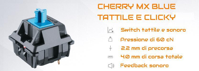 CHERRY MX BLUE TATTILE CLICKY SWITCH