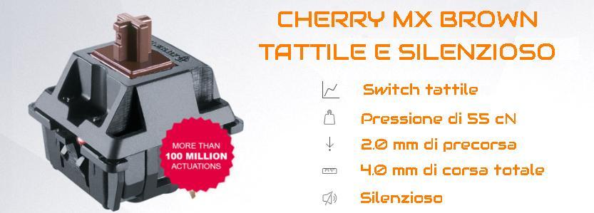 Cherry MX Brown switch tattile