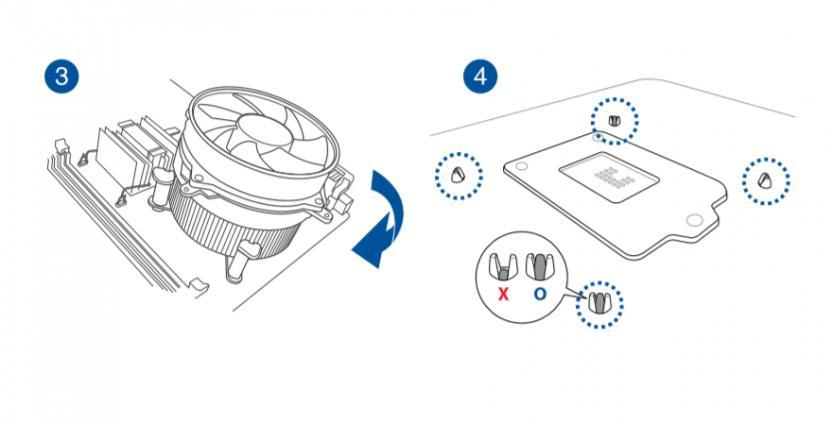 come installare dissipatore cpu controllo pin aggancio