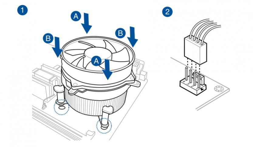 come installare dissipatore cpu