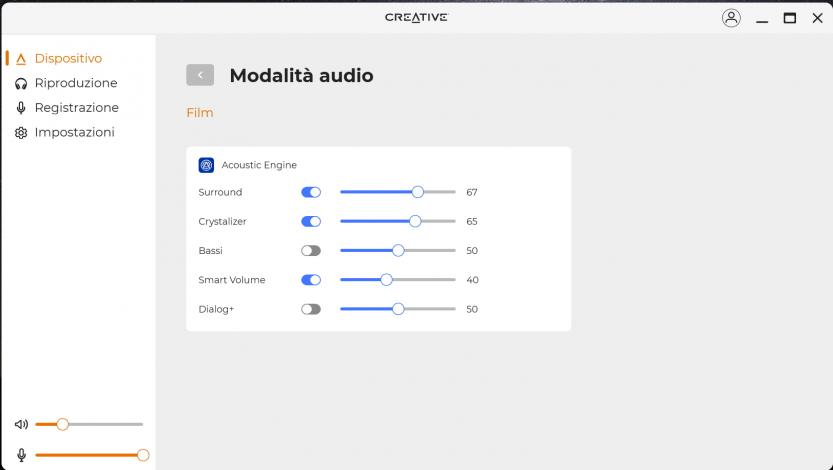creative sound blaster play 4 creative app modalita audio avanzate