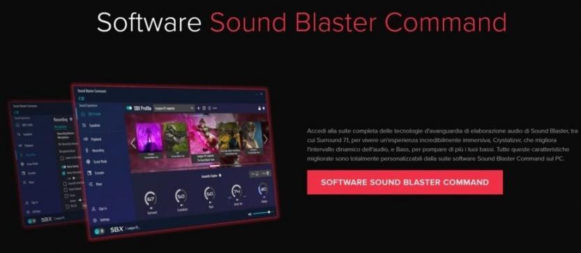 creative sound blaster z se sound blaster command software