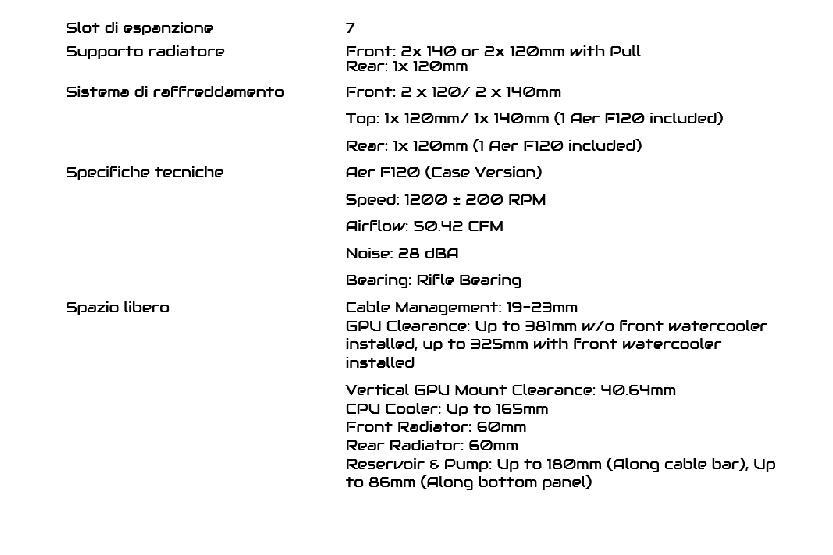 dati tecnici case nzxt h510i parte 2