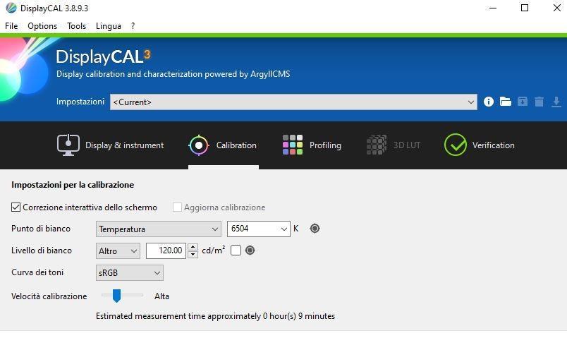 displaycal_calibrazione