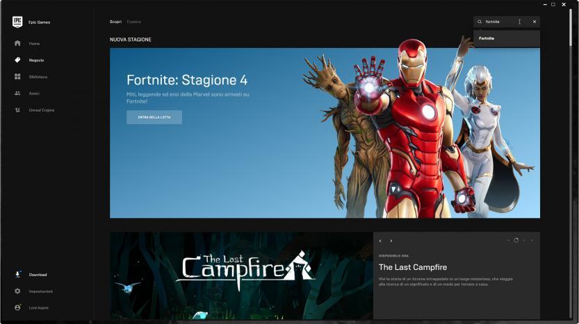 epic games fortnite ricerca gioco