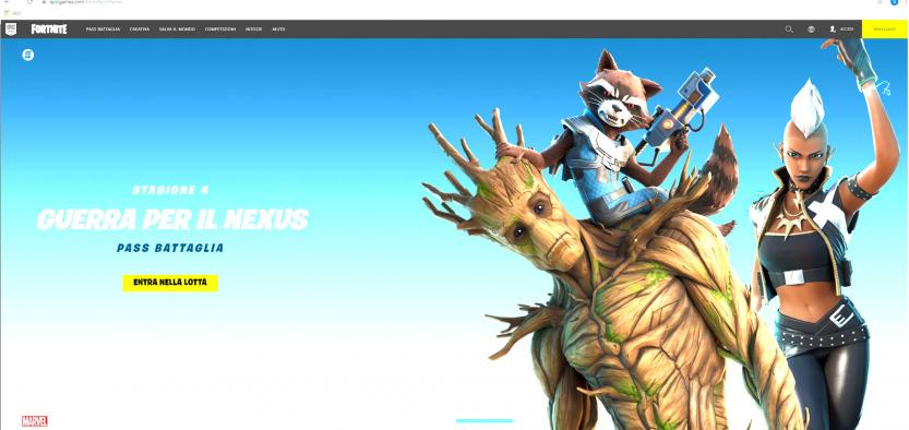 epic games fortnite home page