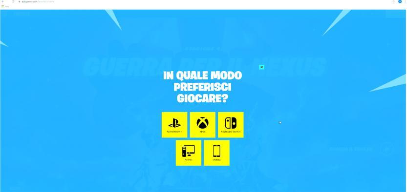 epic games scelta piattaforma gioco
