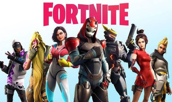 logo fortnite con i personaggi principali