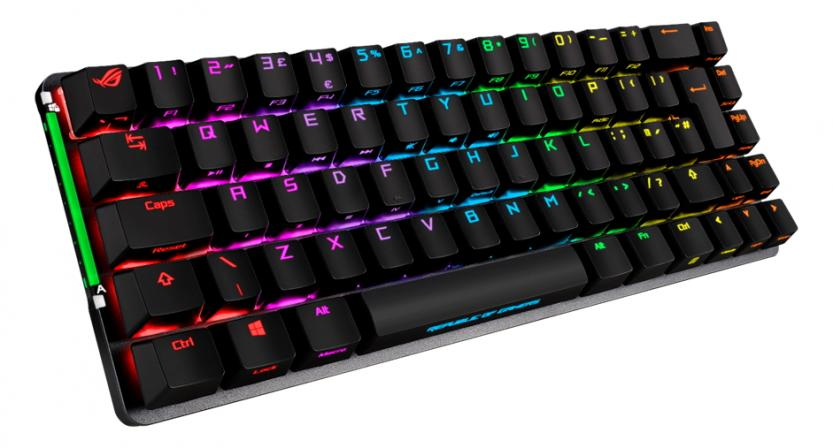 gaming keyboard wireless asus rog falchion layout