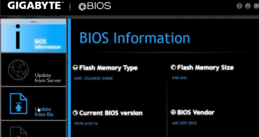 gigabyte bios update
