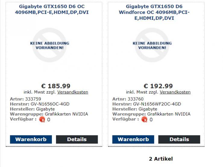 nvidia geforce gtx 1650 gddr6 Gigabyte GeForce GTX 1650 D6 Windforce OC e Gigabyte GeForce GTX 1650 D6 OC