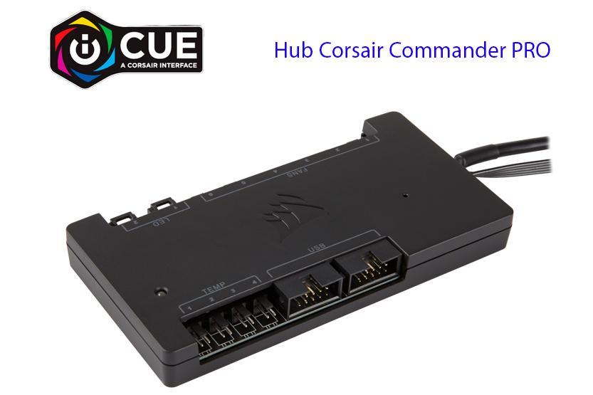 Corsair commander pro HUB ARGB fan e temperatura