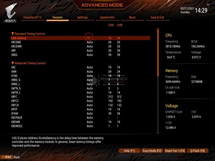 hyperx fury ddr4 rgb 32 gb 3200 mhz cpuz memory 3600 overclock gigabyte b550 aorus master