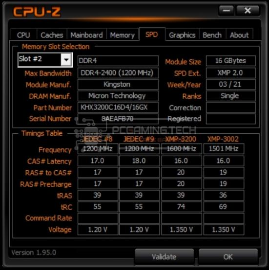 hyperx fury ddr4 rgb 32 gb 3200 mhz cpuz spd