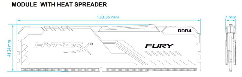 hyperx fury ddr4 rgb 32 gb 3200 mhz dimensioni