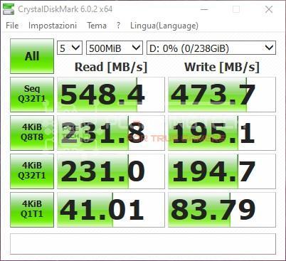 Kingston KC600 CrystalDiskMark benchmark