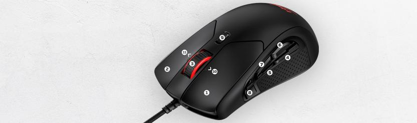 Mouse Gaming HyperX Pulsefire Raid 11 programmable keys