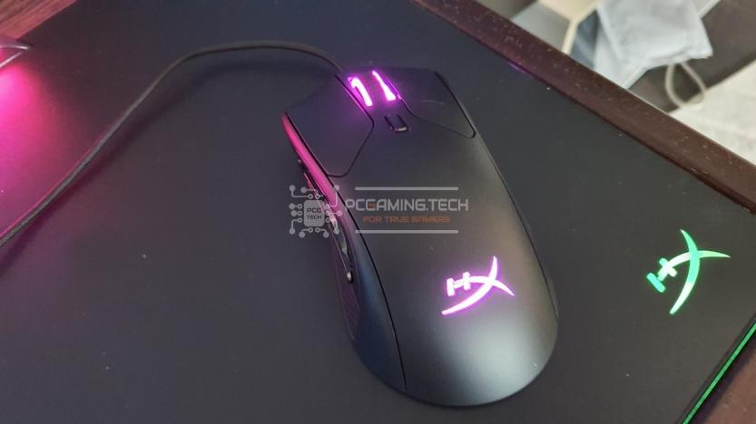 Mouse Gaming HyperX Pulsefire Raid rgb light