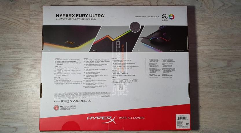 hyperx mouse pad fury ultra package back