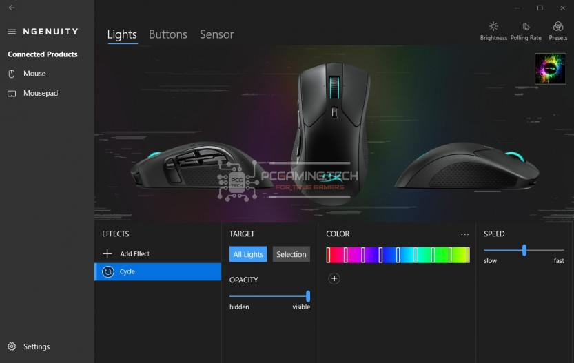 Software HyperX NGENUITY light led rgb