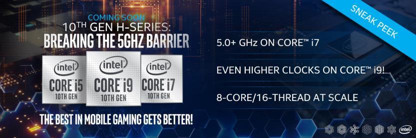 Intel Comet Lake-H slide decima generazione