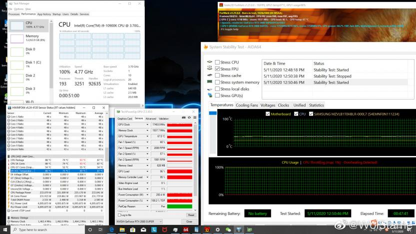 Intel i9-10900k benchmark power consumption