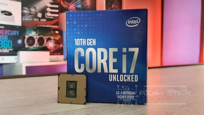 Intel i7-10700K box & cpu
