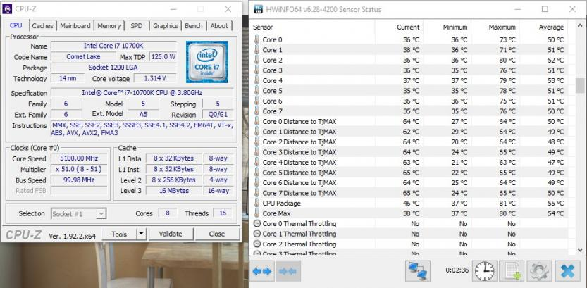 intel i7 10700k 5_1ghz manual overclock