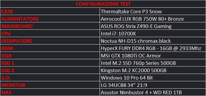 intel i7 10700k config test