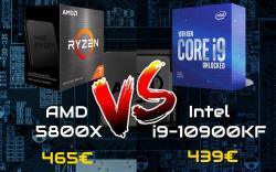 AMD Ryzen 5800X vs Intel 10900KF