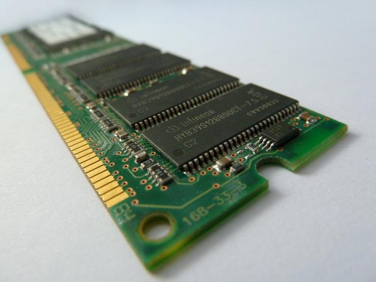 modulo di memoria RAM, dettaglio