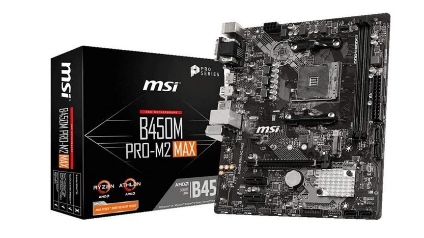 msi b450m pro m2 max am4 motherboard