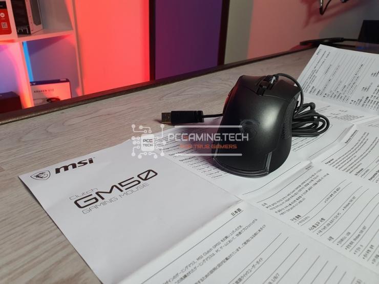 budle MSI Clutch GM50 mouse e istruzioni