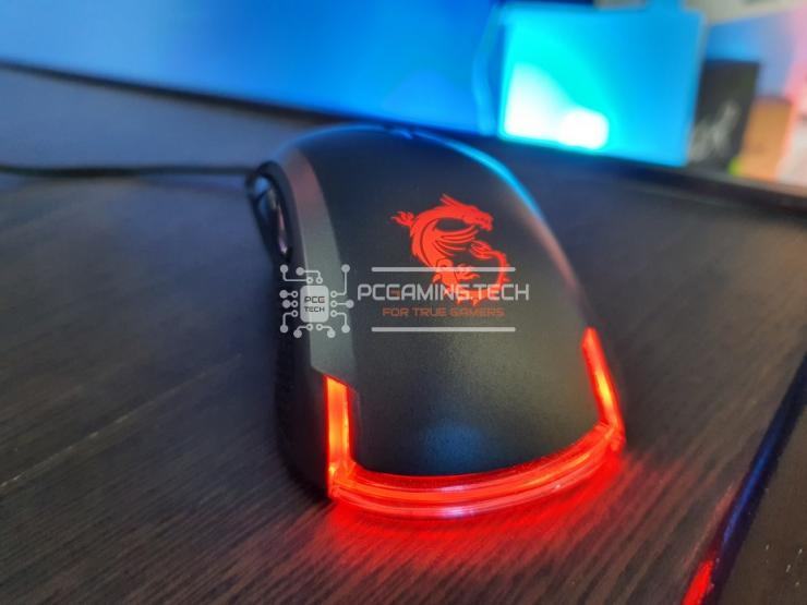 MSI Clutch GM50 LED rosso