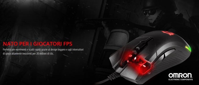 Immagine di MSI per gli FPS con switch Omron