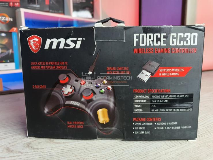 MSI Force GC30 posteriore scatola
