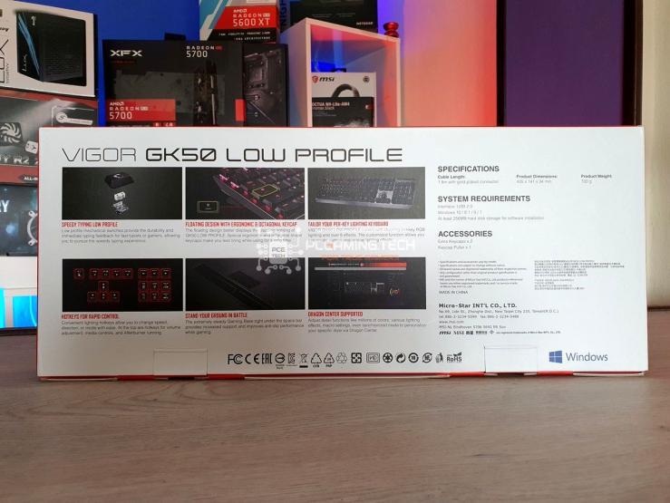 MSI Vigor GK50 Low Profile Retro Scatola
