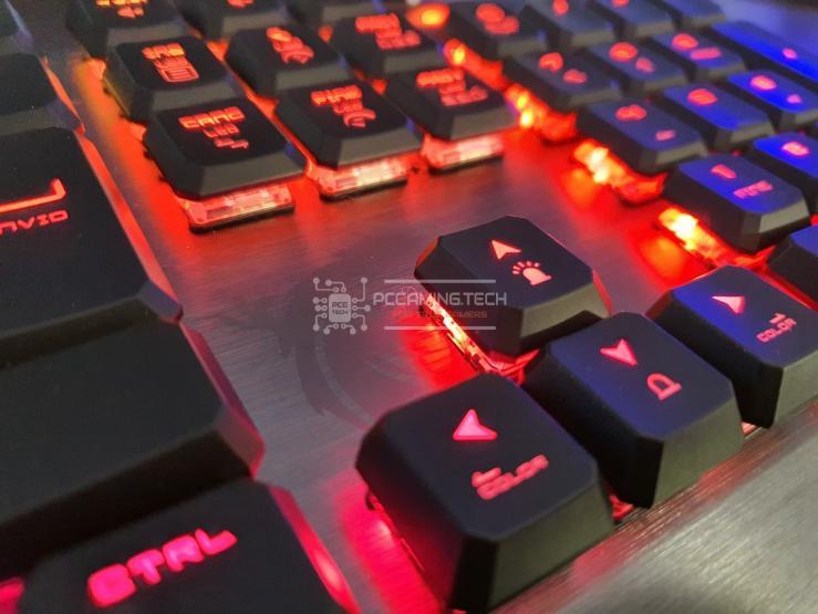 MSI Vigor GK50 Low Profile illuminazione RGB Rossa